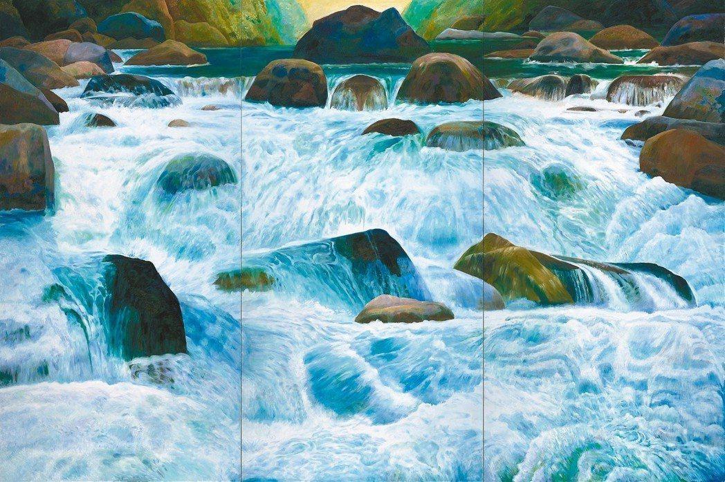 林惺嶽作品〈浩蕩清流〉,419.5x628cm,2015。