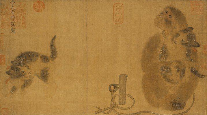 故宮年度大展「國寶再現」展出「猴貓圖」。圖/故宮提供