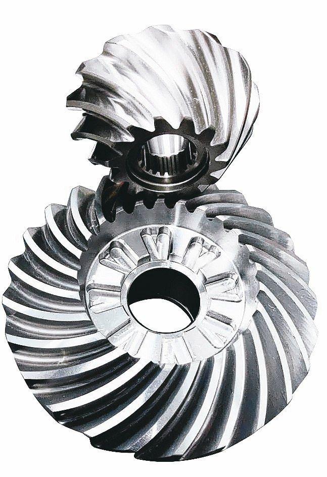 豪倫公司傘形齒輪製程98%高良率。 吳青常/攝影