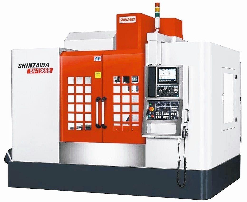 震澤SV-1365S立式綜合加工中心機。 震澤精機公司/提供