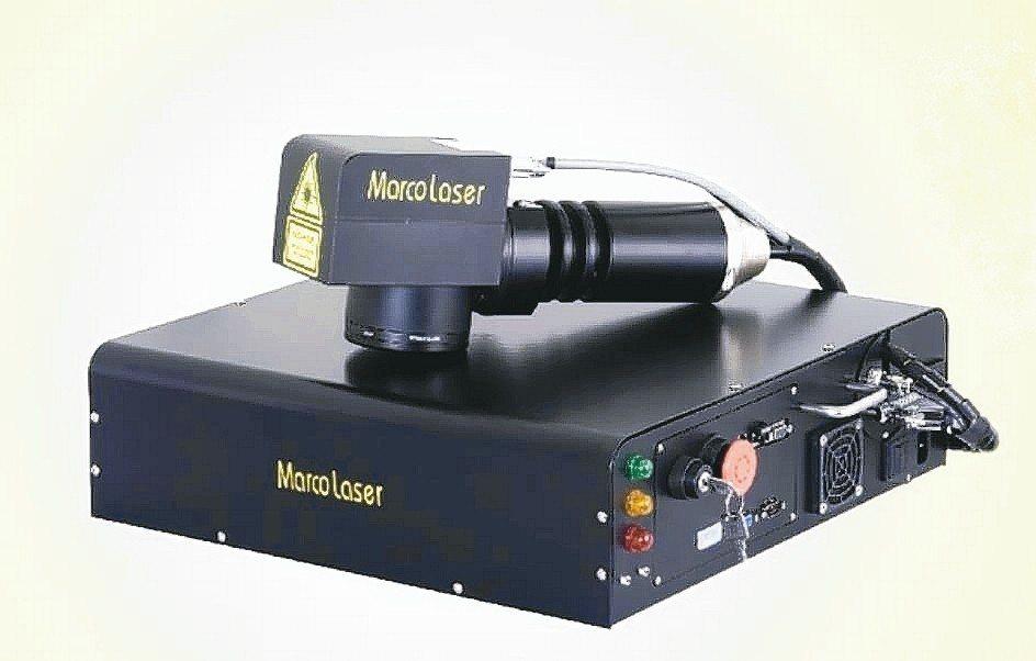 順茂公司研發的雷射標刻機,可選擇20W~50W功率機種。 順茂公司/提供