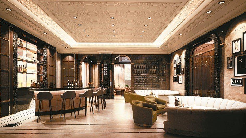 遠雄THE ONE 全國最高私人空中會館專屬頂級公設,有優雅英式午茶館、威尼斯鳳...