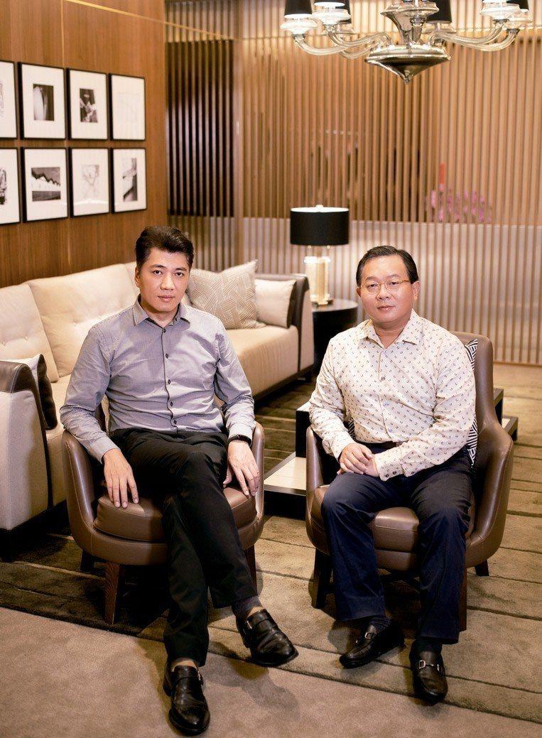 漢春機械工業總經理陳俊良(右)、鼎睿設計執行總監戴鼎睿。 圖/遠雄提供