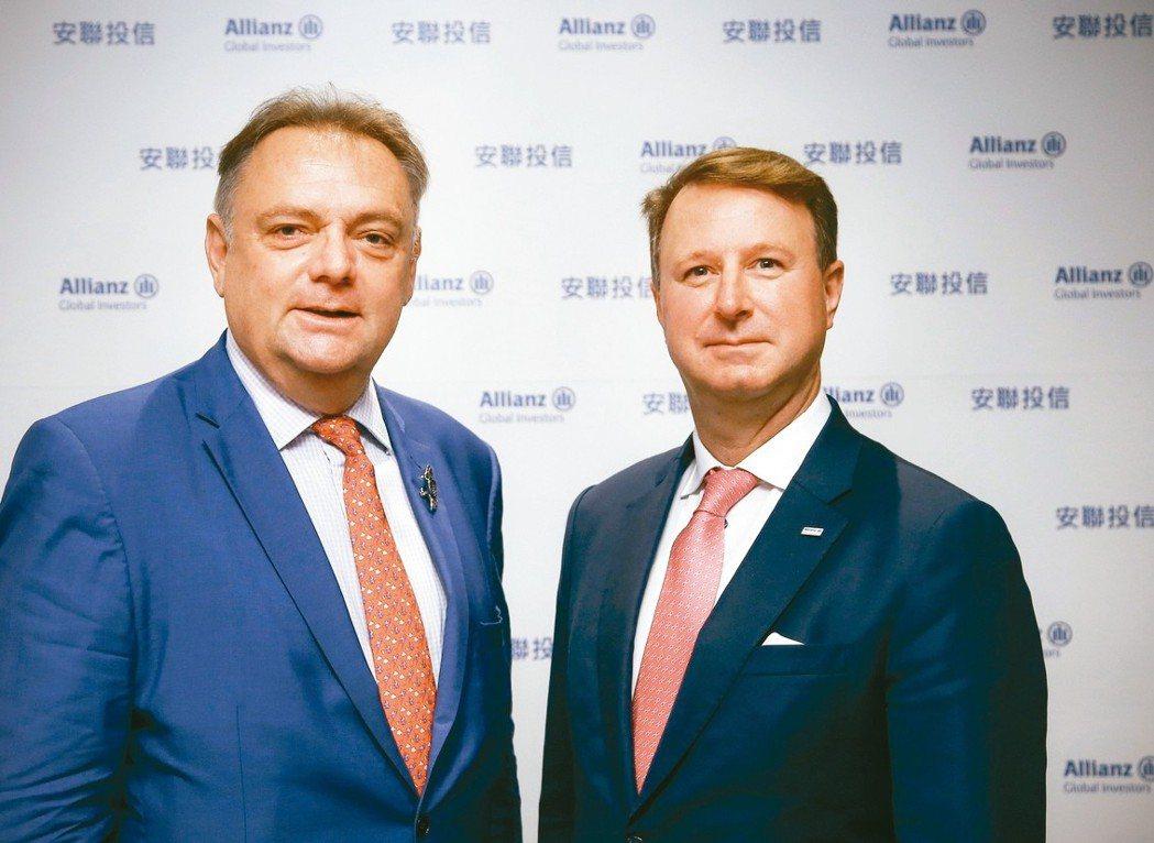 安聯環球投資全球投資策略首席杜納恩(Neil Dwane,圖左)與安聯環球投資固...