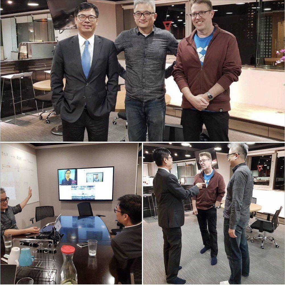 網友表示陳其邁曾向台灣AI人工智慧實驗室創辦人杜奕瑾、前微軟AI&R Corta...