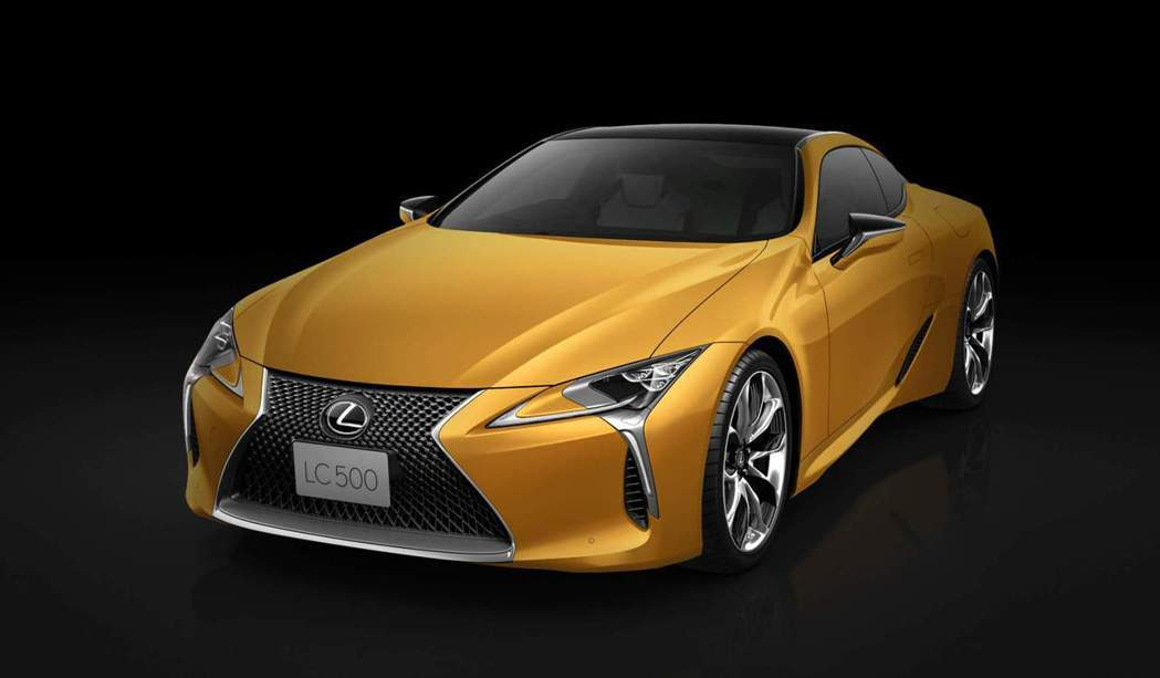日規Lexus LC Luster Yellow Edition雖然也是採用黃色...