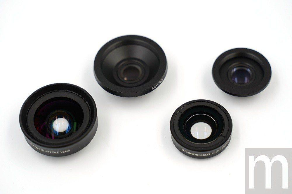 兩款擴充鏡頭均以兩種形式鏡頭組合而成,拆開即可當做微距鏡使用