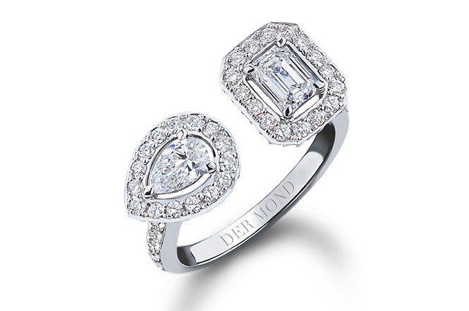 「鑽石恆久遠 一顆永流傳」,鑽石不僅是愛情中的承諾,也代表著堅定永恆的愛。(DE...