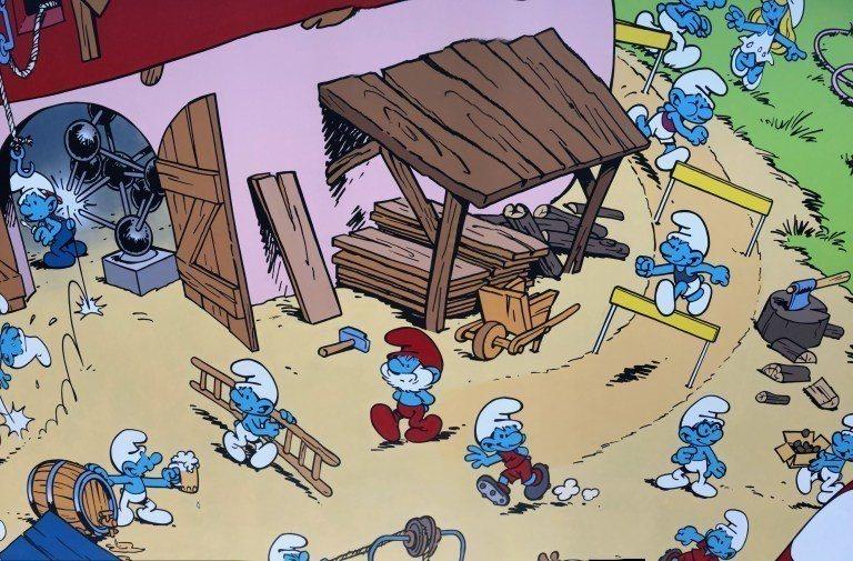 原來藍色小精靈是比利時人,街上四處可以見到紀念品,也有壁畫,我們去的時候,某間博...