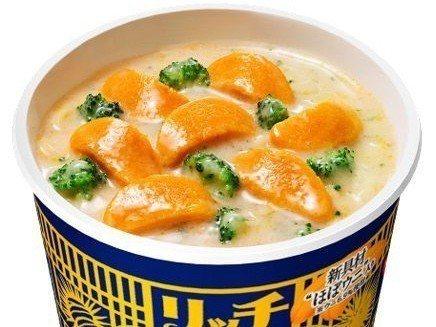 日清宣布推「海膽泡麵」,號稱海膽成分有6.9%。圖/翻攝自日清官網