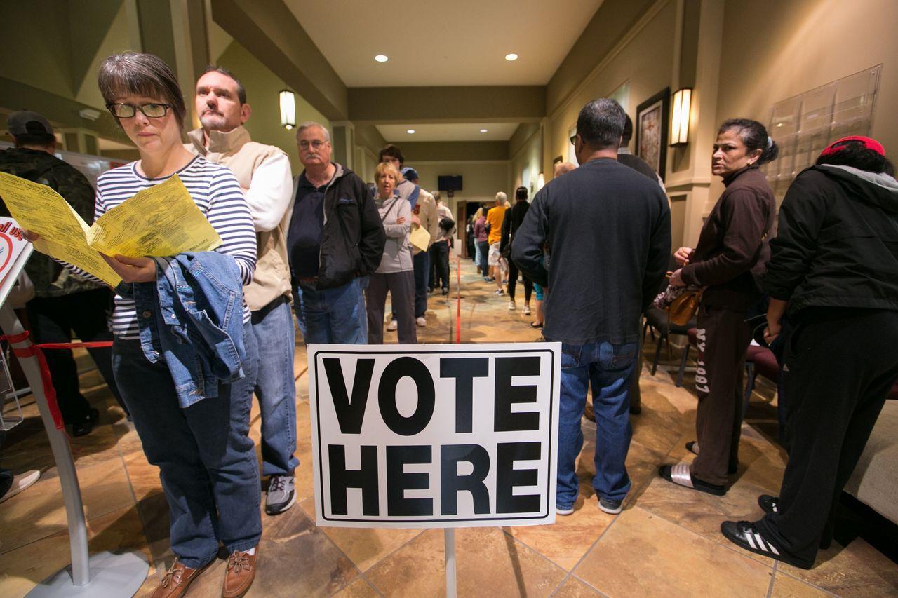 美國6日舉行期中選舉。法新社