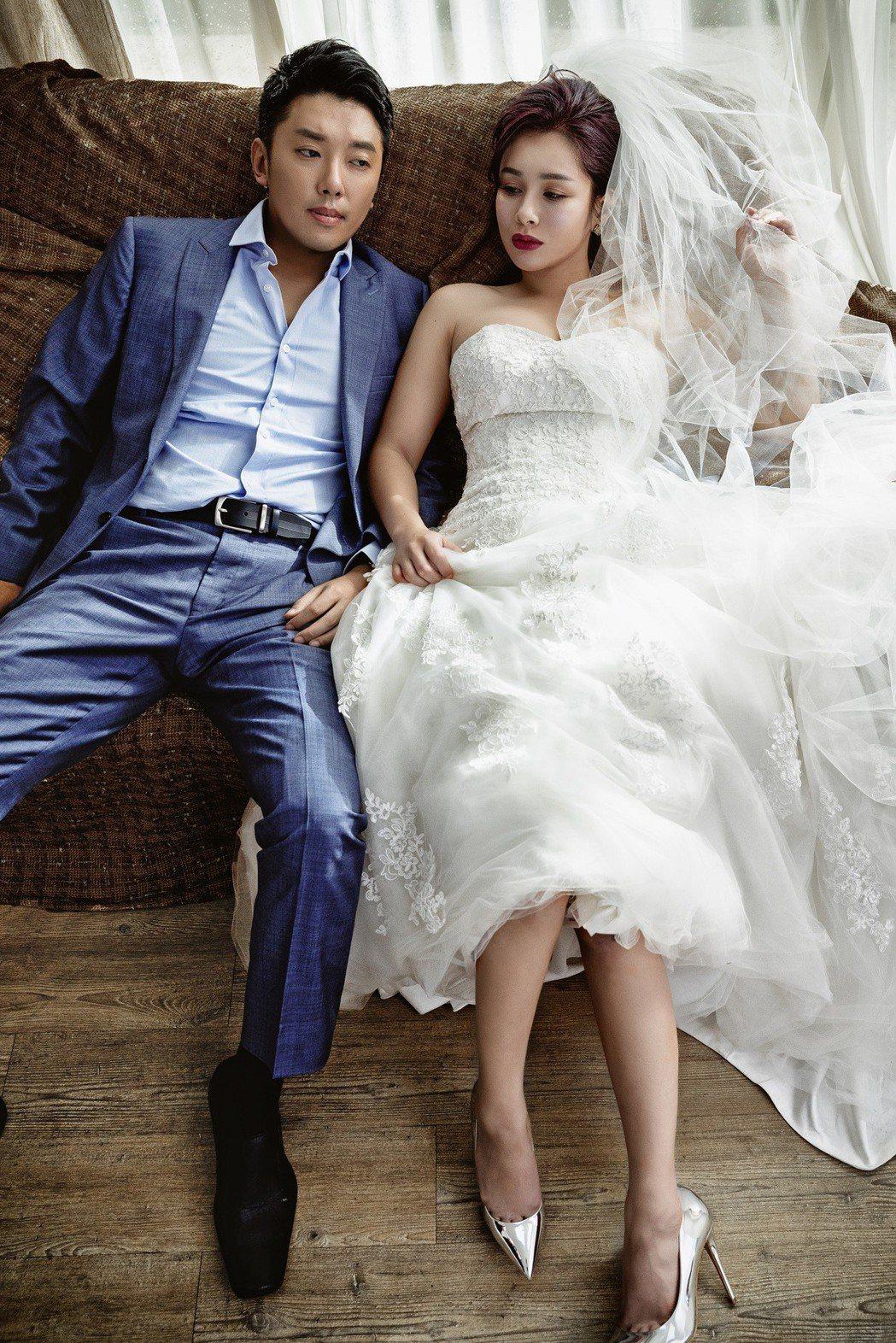 段鈞豪和交往一年多的阿美族女神Gina結婚。圖/逆光電影提供