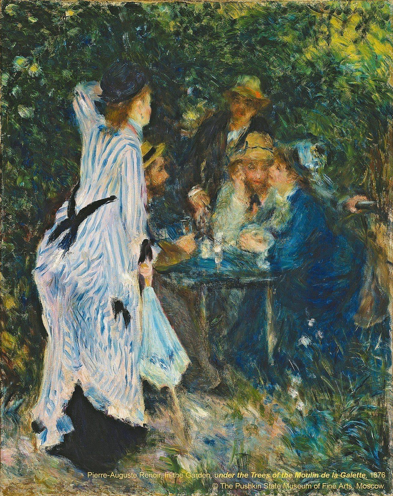 雷諾瓦的畫作「煎餅磨坊庭院樹下」,是看點之一。 圖╱聯合數位文創提供