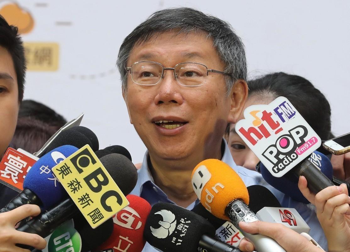 台北市長柯文哲。 (中央社)