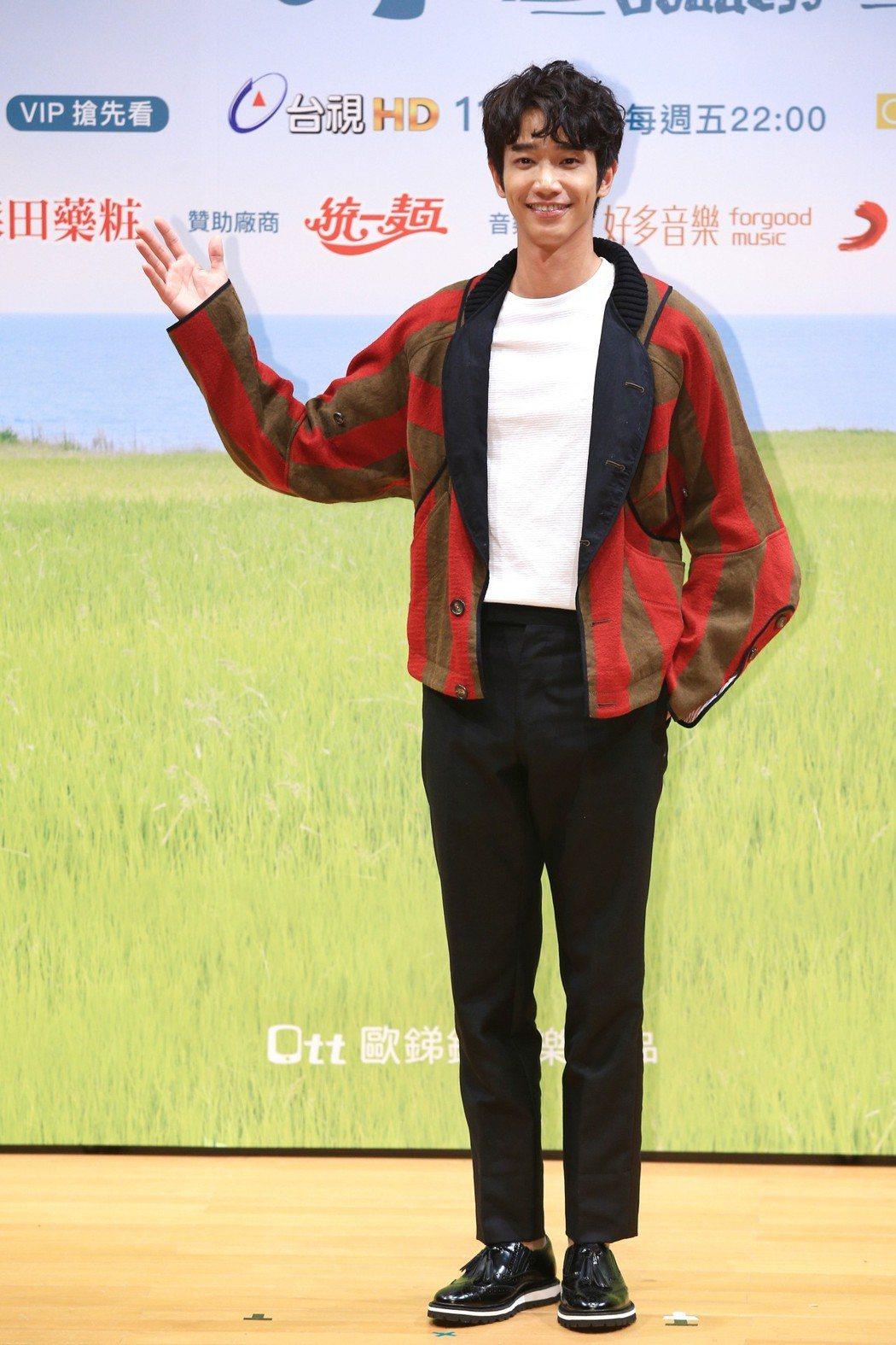 《種菜女神》首映發布會,主要演員劉以豪出席宣傳。記者林伯東/攝影