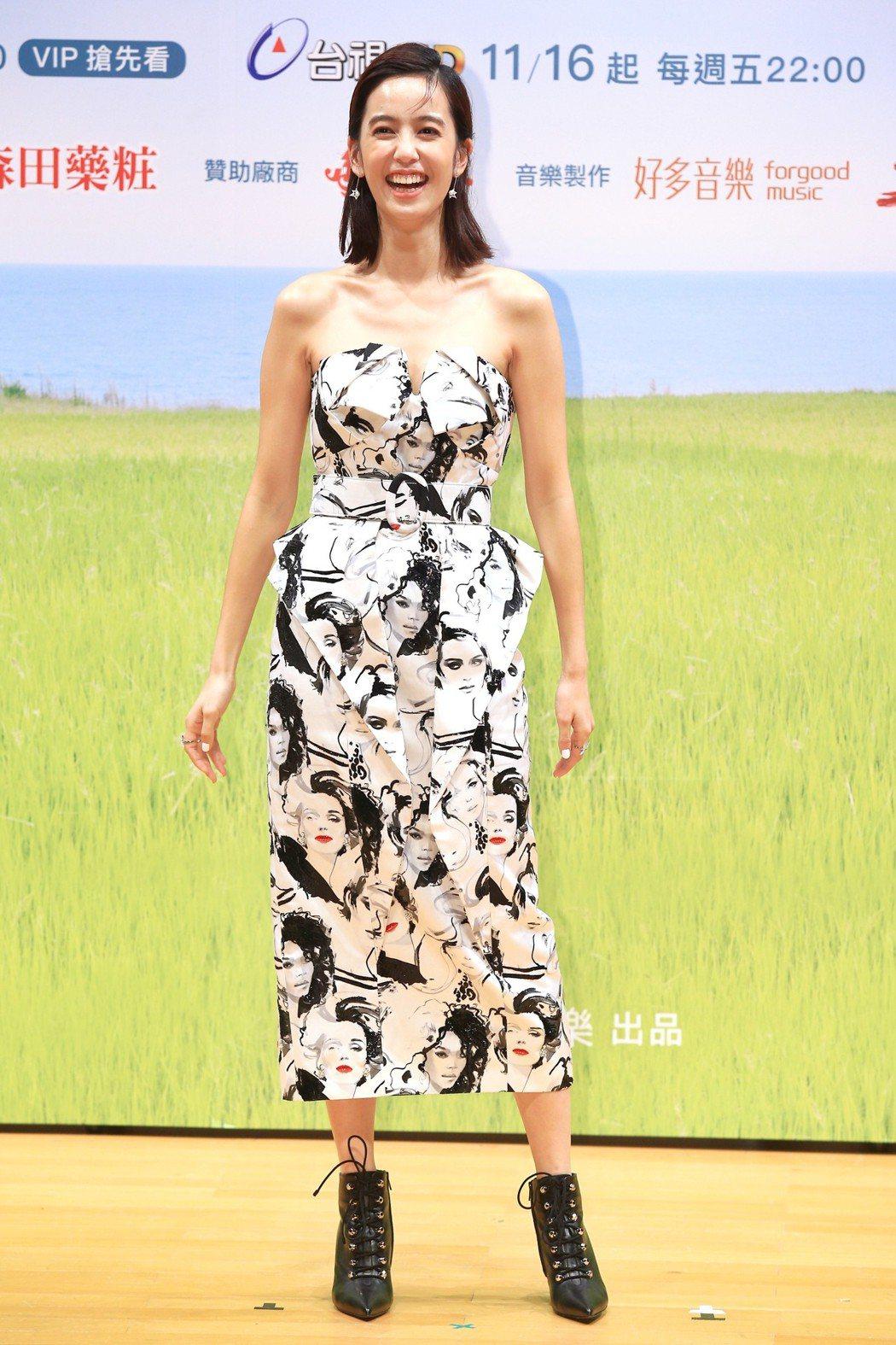 《種菜女神》首映發布會,主要演員陳庭妮出席宣傳。記者林伯東/攝影