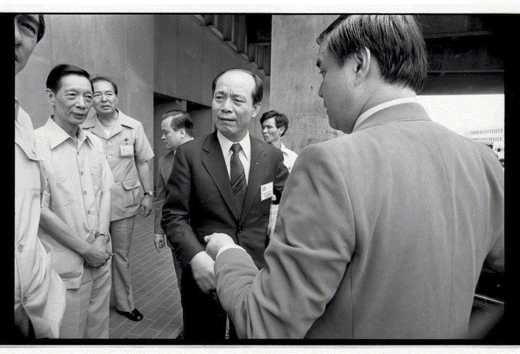 1980年6月,市長訪問團由美返回台北,圖為高雄市長王玉雲。 圖/聯合報系資料照...