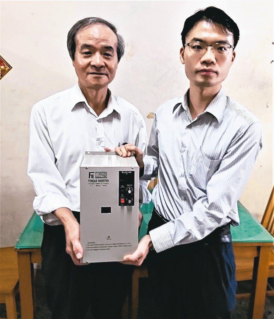 富茂總經理林松議(左) 父子聯手在轉矩扭力變頻器業界打出名號。 蔡志清/攝影