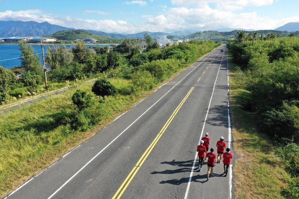 無人飛機空拍取景,2018地質嘉年華路跑活動 圖/經濟部中央地質調查所提供
