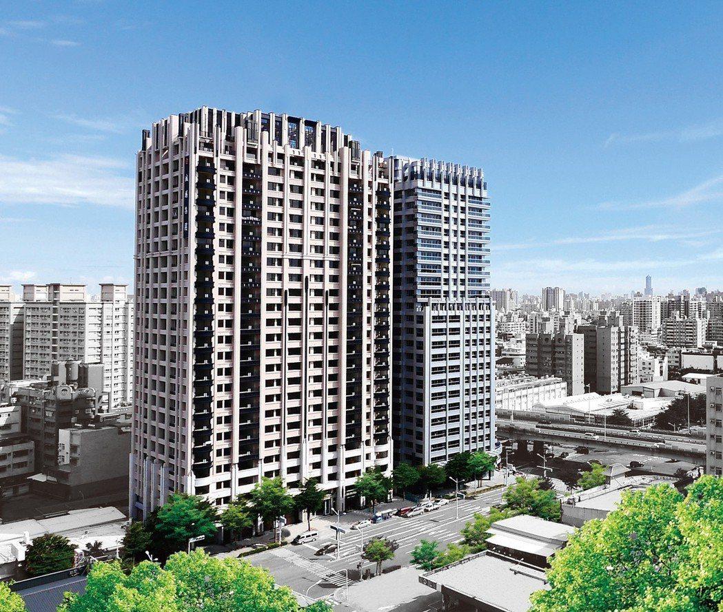 「博愛綻」外觀是以城揚建設擅長的Art Deco,識別度極高。