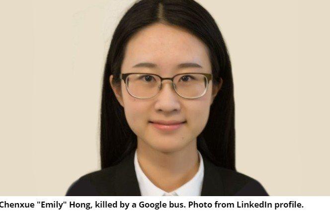5日傍晚,一名年輕女子在Google矽谷總部園區之內被一輛「Google巴士」撞...