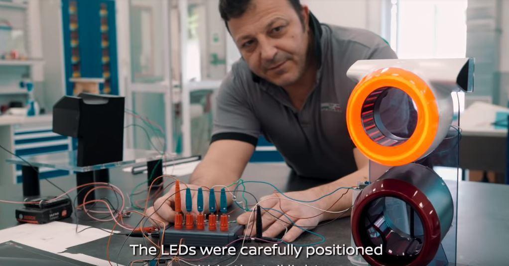 尾燈的部份就是採用3D列印技術製造。 摘自Italdesign Official