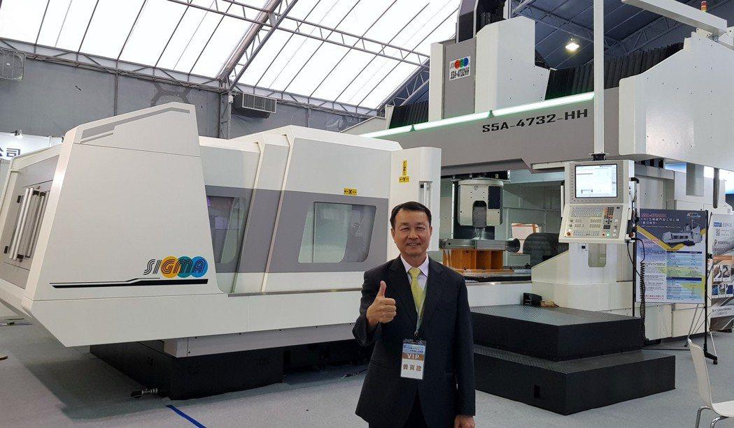 新穎機械董事長莊茂賓表示,S5A-4732HH機型是配合政府大力推動的5+2產業...
