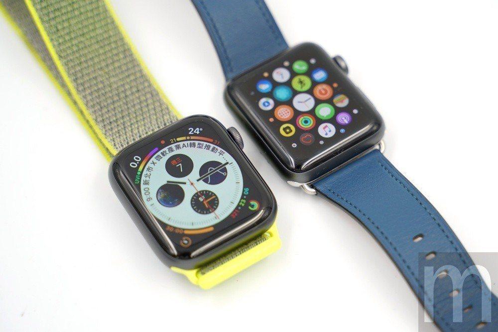 Apple Watch series 4與Apple Watch series ...