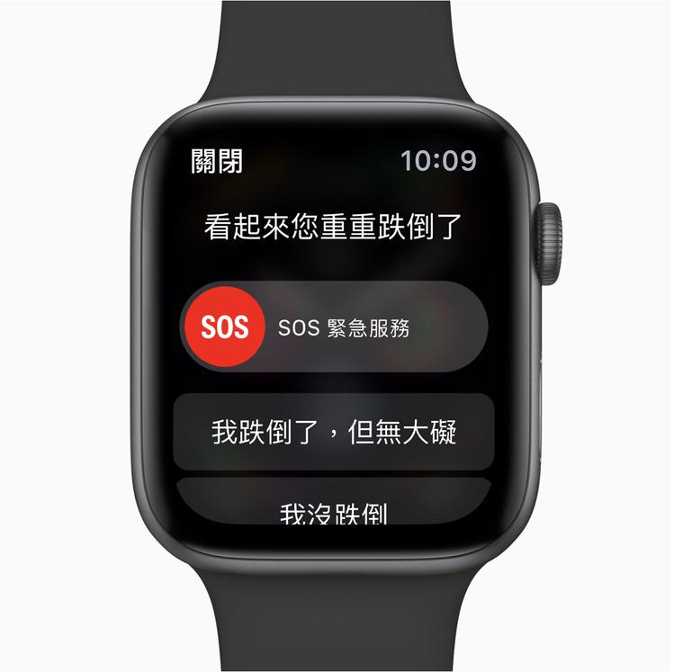 Apple Watch Series 4的跌倒偵測功能,對65歲以上使用者預設自...