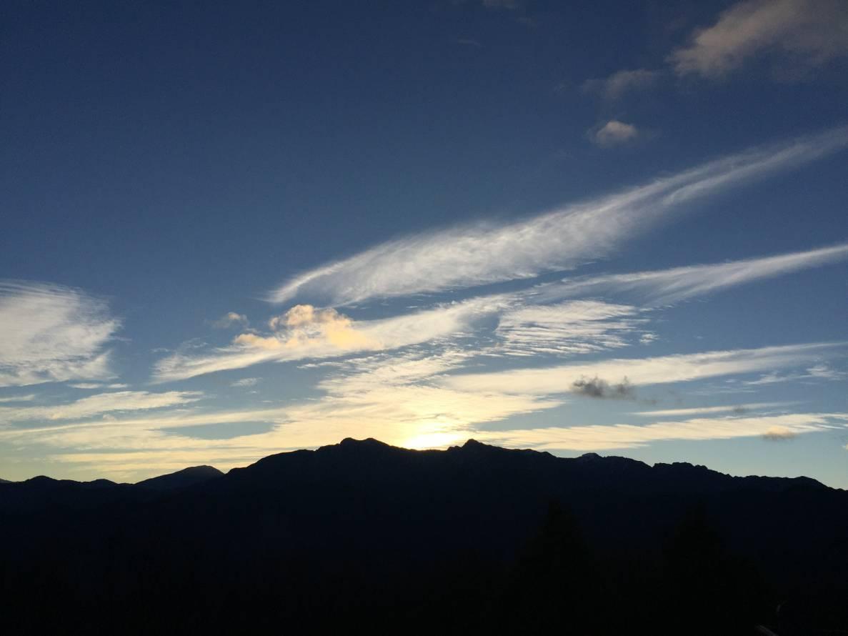 小笠原山日出。圖/嘉義林區管理處提供