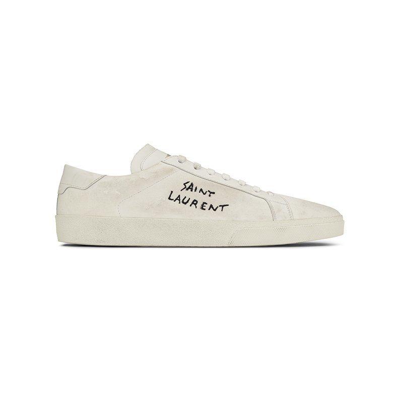 Court Classic SL/06仿舊運動鞋。圖/Saint Laurent...