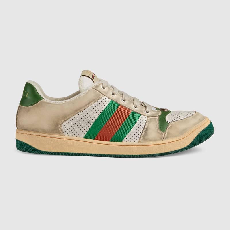 Distressed GG canvas休閒鞋共3種配色可選擇,包含GG帆布、皮...