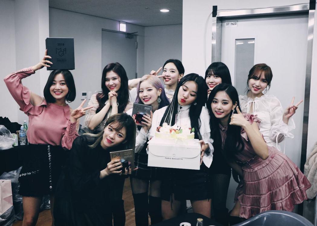韓國女團TWICE人氣高。圖/摘自臉書