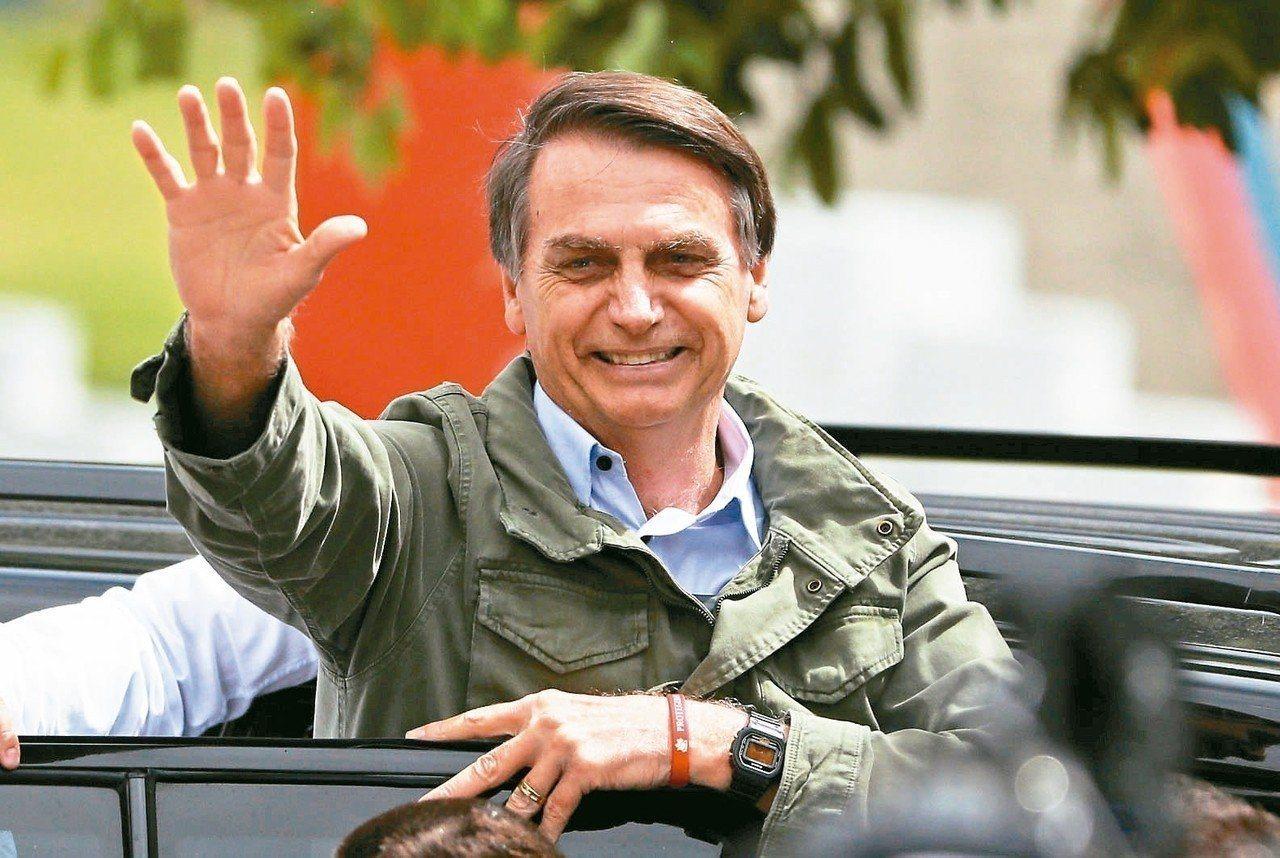 巴西總統當選人波索納洛。路透