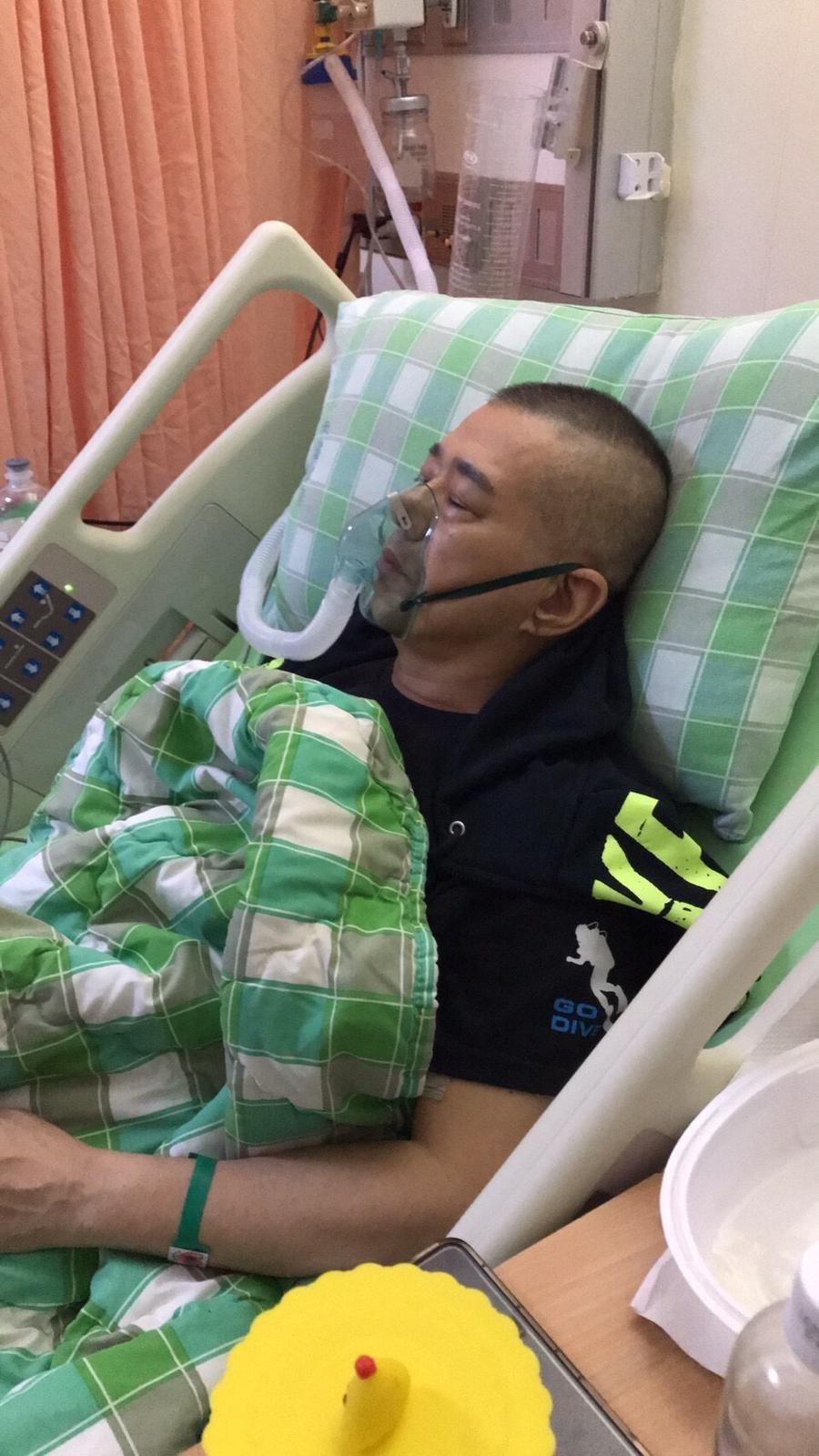 安迪正在加護病房裡跟死神拔河。圖/阿娥提供