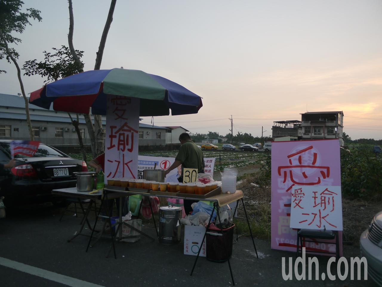 攤販趕上韓流熱潮,連愛玉都改名了。記者徐白櫻/攝影