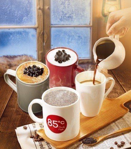 85度C推出多款冬季飲品。圖/85度C提供