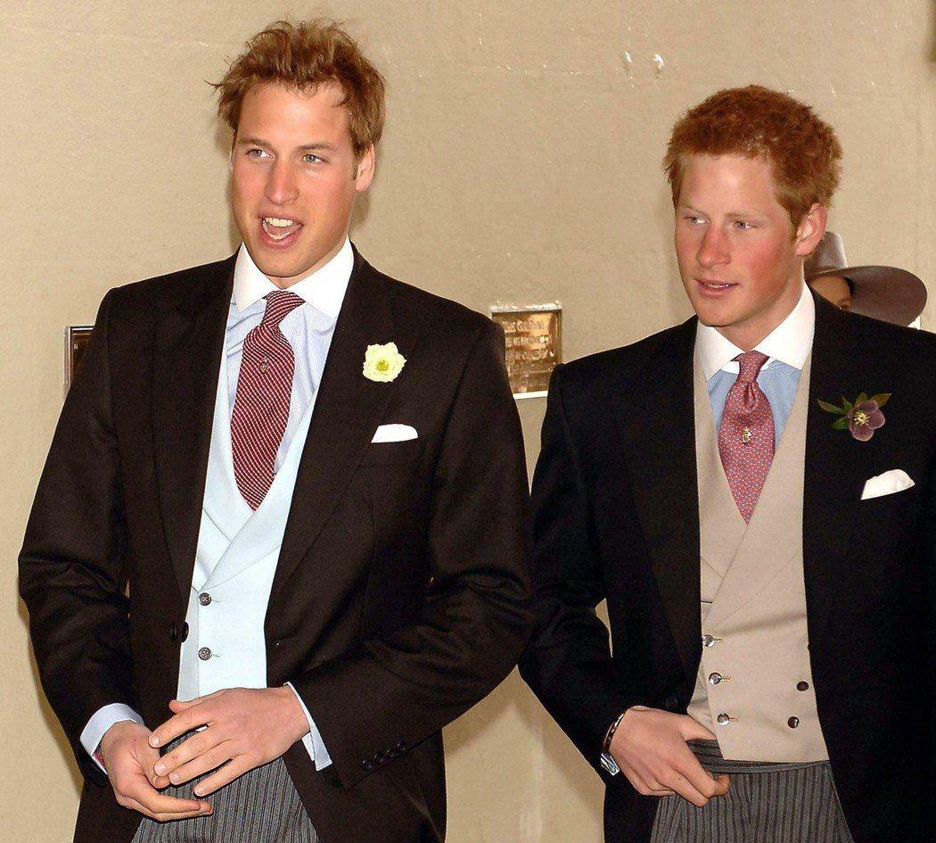 威廉王子與哈利王子年輕時髮量都夠茂密。圖/路透資料照片