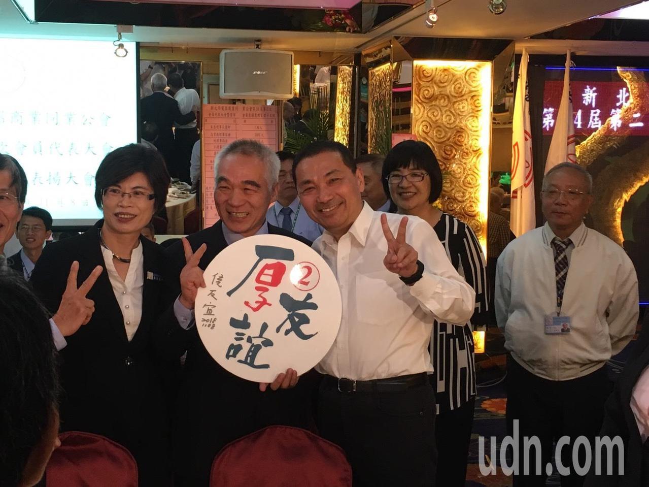 侯友宜今晚接在蘇貞昌後,出席新北市電器商業同業公會代表大會。記者張曼蘋/攝影