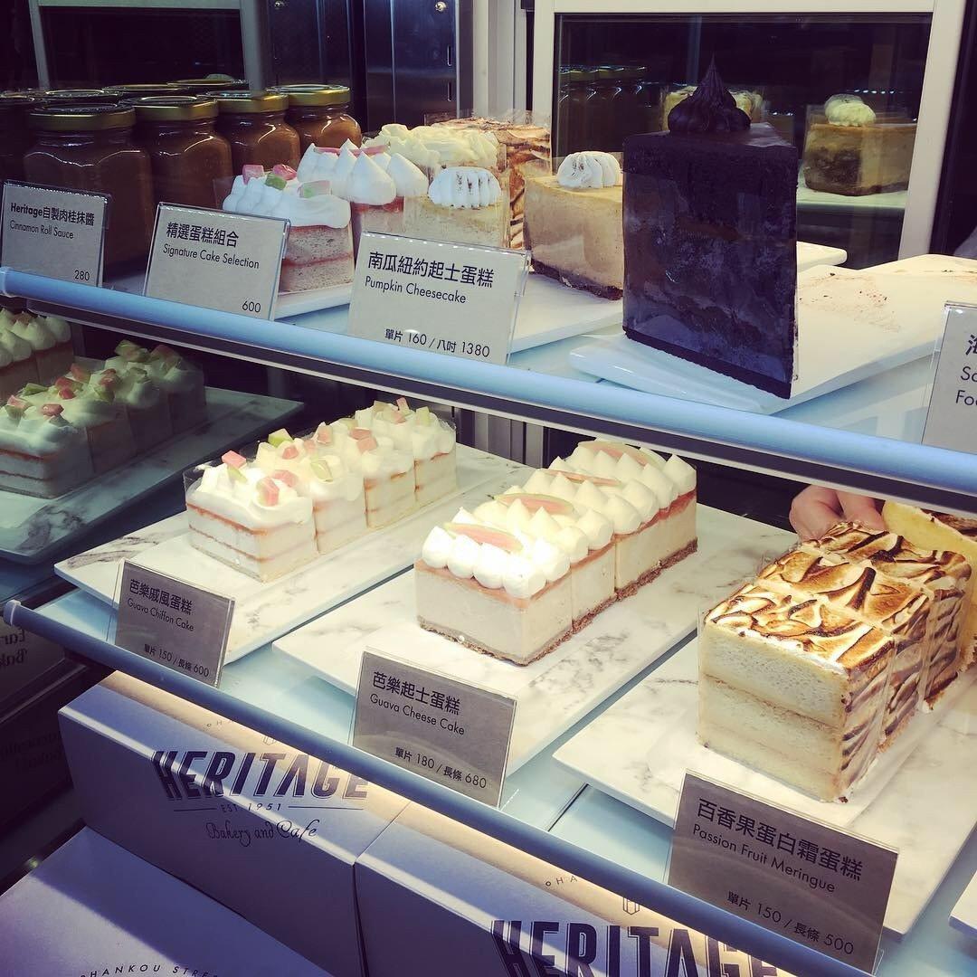 Heritage Bakery & Cafe也提供芭樂戚風蛋糕、胡蘿蔔蛋糕等,都...