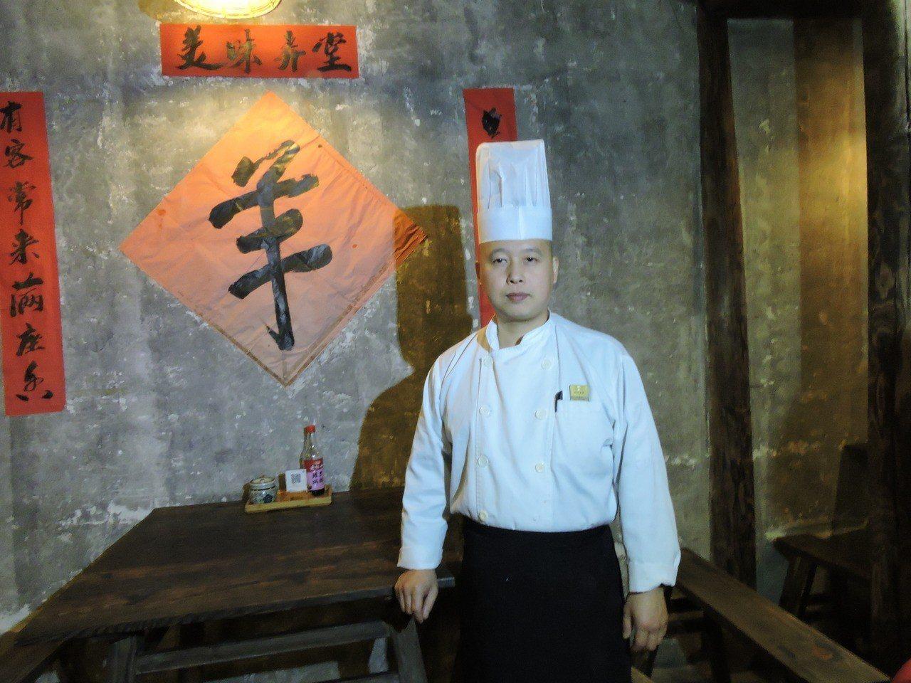 書生麵館廚師長李順驖。記者戴瑞芬╱攝影