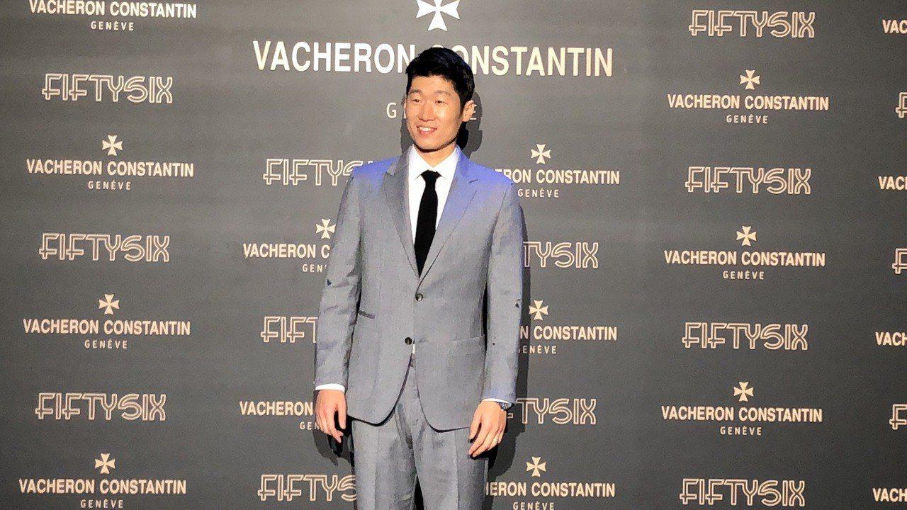 韓國前國腳朴智星出席江詩丹頓Fiftysix系列腕表亞洲發表會。記者孫曼/攝影