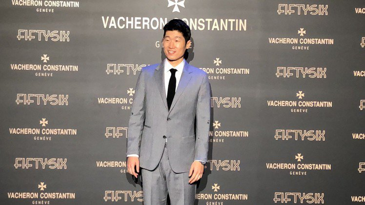 韓國前國腳朴智星出席江詩丹頓Fiftysix系列腕表亞洲發表會。圖/記者孫曼攝影