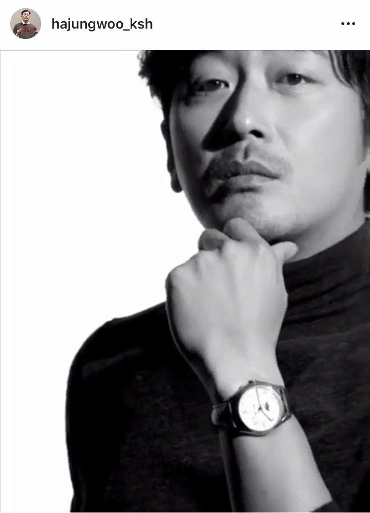 河正宇於自己IG分享配戴江詩丹頓Fiftysix系列的影片。圖/取自IG @ha...