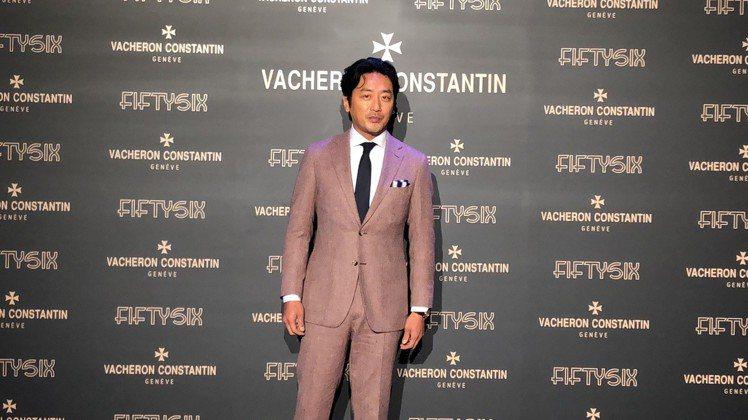 河正宇出席江詩丹頓Fiftysix系列腕表亞洲發表會。記者孫曼/攝影