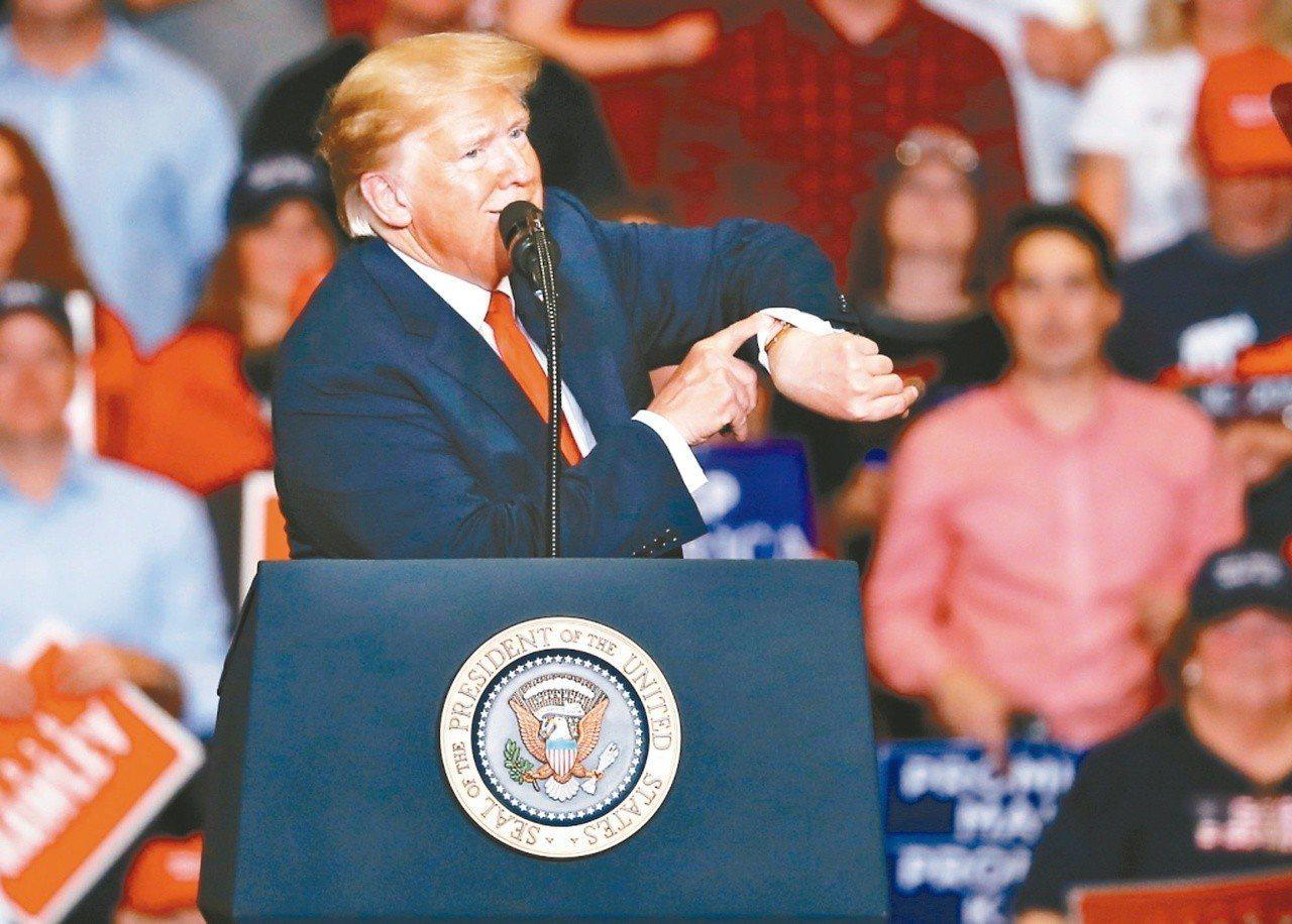 美國總統川普支持度仍高。 (美聯社)