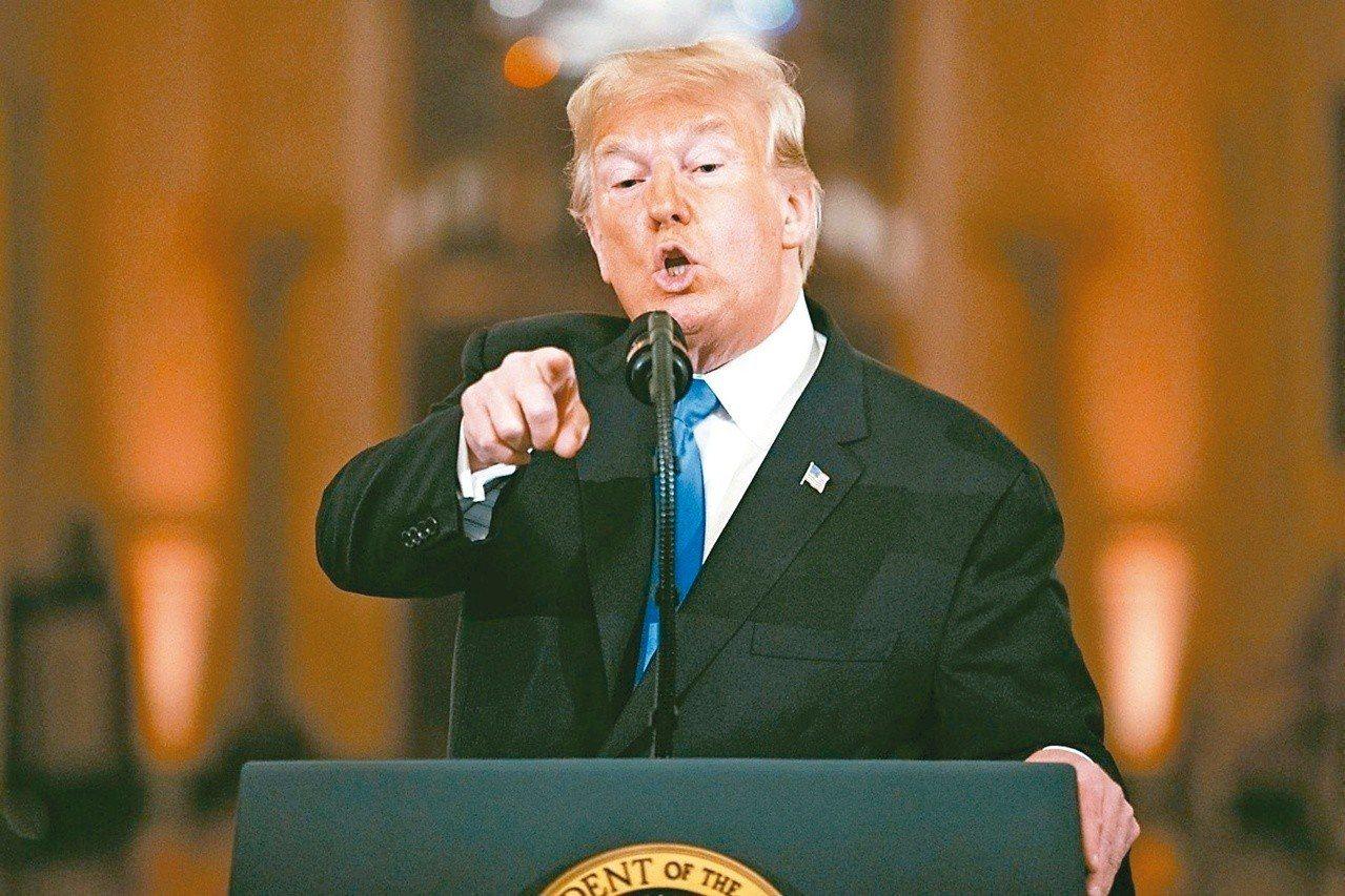 美國總統川普七日在記者會的談話暗示,中國已經撤銷「中國製造二○二五」計畫。 (美...