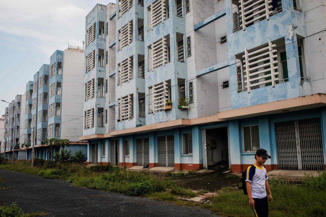 胡志明市政府為拆遷戶準備的新房。 (法新社)