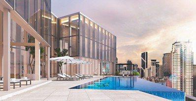 吉隆坡柏威年酒店預訂12月開幕,這是露天無邊際泳池。 圖/陳志光