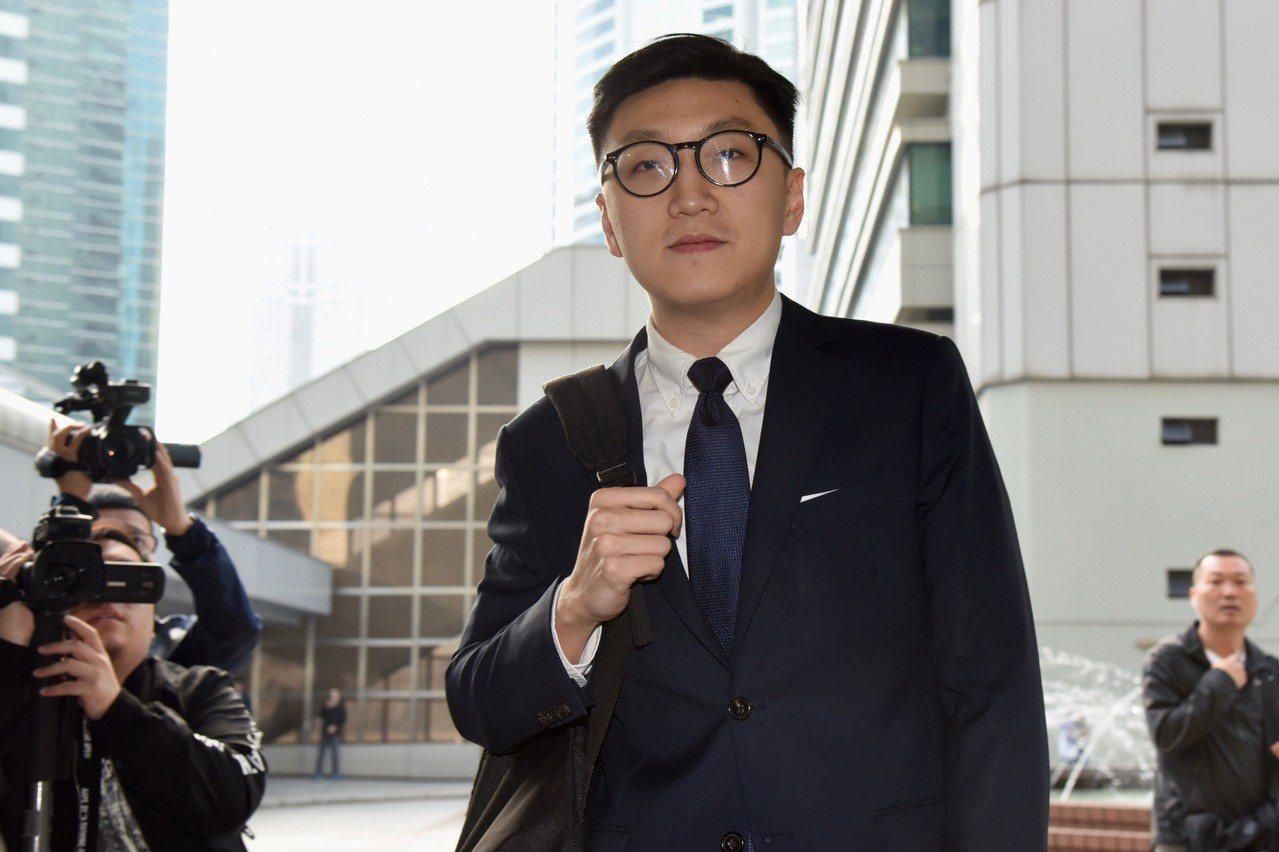 香港本土民主前線前發言人梁天琦。中通社